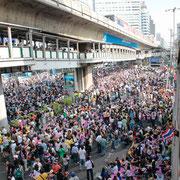 Die Demonstrationen 2014 sollen die ganze Stadt Bangkok lahmlegen!
