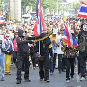 Regierungsgegner auf den Straßen Bangkoks.