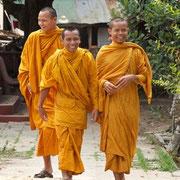 Während der Reise werden Sie viele buddhistische Mönche zu Gesicht bekommen.