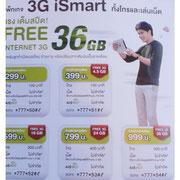 Internet-Pakete in Thailand (Beispiel AIS)