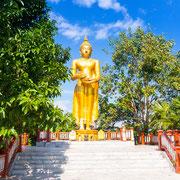 Der Goldene Buddha im Wat Thaton
