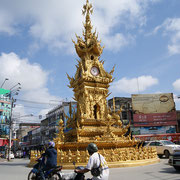 Golden Clock Tower in Chiang Rai