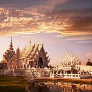 Weißer Tempel bei Chiang Rai