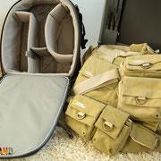 Fototaschen gut gepolstert für den Urlaub