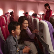 Economy im A380 der Thai Airways