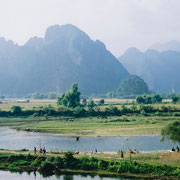 Nam Song River in Vang Ving