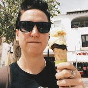 Eis essen in Nerja