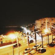 Strand Promenade Torrox Costa bei Nacht