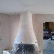 réparation plafond avec enduit lissage