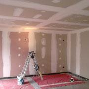 murs avant en plaque de plâtre