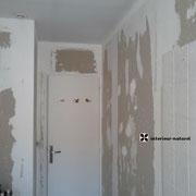 murs détapissés