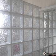 mur briques de verre
