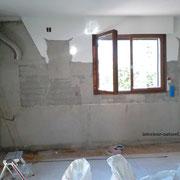 mur après démolition