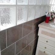 faïence mosaïque et briques de verre