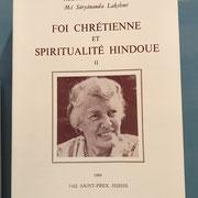 Foi Chrétienne et Spiritualité Hindoue par Ma Suryananda Lkshmi
