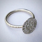Contemporary Handmade Sunflower Sterling Silver Ring