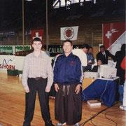 Чемпионат Европы 1997 год, 4-е место  по кумитэ (поединку) среди мужчин, Швейцария, Давос. С Сэнсэем Хироши Ширае