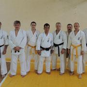 Бойцы Федерации каратэ-до Уэчи-рю на семинаре Кацудзи Тамаёсэ Сэнсэя