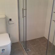 Cheltenham Ensuite Renovations After With Toughen Glass Sliding Door Shower Screen