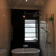 Chatswood Bathroom Builder After Photo With New Ceiling And LED Lighting