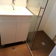 Picnic Point Ensuite Renovations After With Wall To Wall Sliding Shower Screen