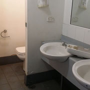 Old office toilets and hand washing facilities renovation