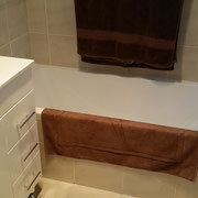 Freshwater bathroom builder after photo, with beautiful tiling