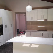 Cheltenham Kitchen Renovations After Photo With White Stone Breakfast Bar