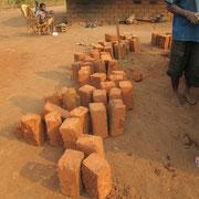 Die Steine in Afrika trocknen in der Sonne