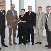 (v.l.) Reiner Großberger, Prof. Dr. Klaus L. Wübbenhorst, Uschi Heubeck, Andreas Brandt, Dr. Dieter Rossmeisl, Harald Greiner