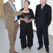 (v.l.) Prof. Dr. Klaus L. Wübbenhorst, Uschi Heubeck, Andreas Brandt