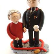 Tortenfigur Paar zur Diamantenen Hochzeit