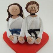 Tortenfiguren Brautpaar Karate