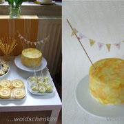 """CandyBar """"gelb"""" Geburtstagskuchen"""