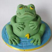 Motivtorte Frosch zum 1.Geburtstag