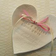 Ringschale für Eheringe mit Traudatum und Namen