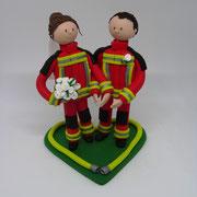 Tortenfigur Brautpaar Sanitäter