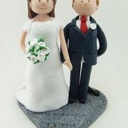 Tortenfigur Brautpaar mit Hockeyschläger