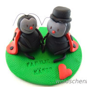 "Tortenfigur Brautpaar ""Marienkäfer"""