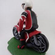 Tortenfigur Motorradfahrer