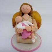 Tortenfigur Engel mit Baby