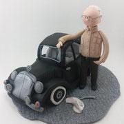 Tortenfigur mit Auto