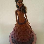 Motivtorte Barbie mit Kleid