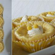 """CandyBar """"gelb"""" Käsekuchenmuffins mit Oreokeksen"""