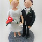 Tortenfiguren Ehejubiläum nach Hochzeitsfoto