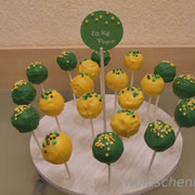 CakePops grün-gelb zum 2. Geburtstag