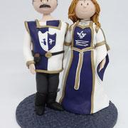 Tortenfigur Brautpaar in Mittelalterkluft