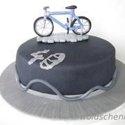 Torte zum 40.Geburtstag mit Fahrradtortenaufleger