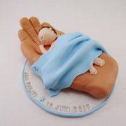 Tortenaufleger Baby in Hand