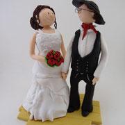 Tortenfigur Brautpaar Zimmermann